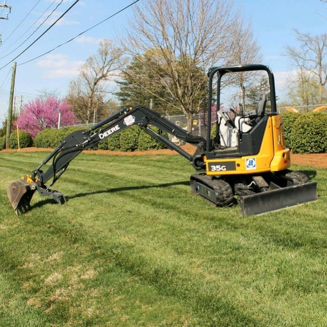Where to find Excavator E35G W Thumb JD 24 in Greensboro